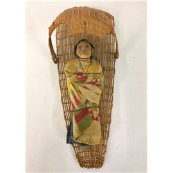 Vintage Paiute Cradle with Doll