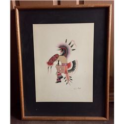 Framed Kiowa Painting