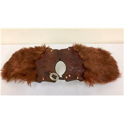 Bear Hide Pommel Bags with Holster