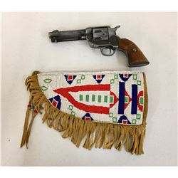 Cree Beaded Holster and Prop Gun