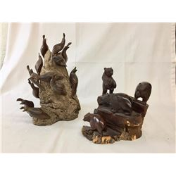 Pair of Ironwood Carvings
