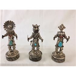 Group of Sterling Silver Kachina Figures