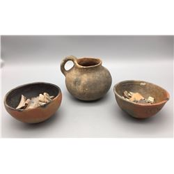 Group of 3 Prehistoric Pots