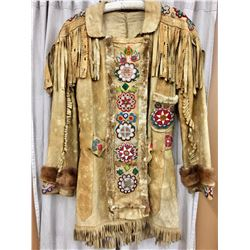 Circa 1900 Beaded Leather Jacket