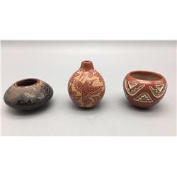 3 Fine Santa Clara Pots