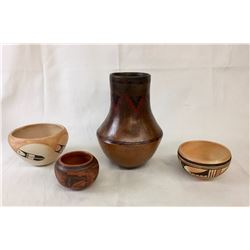 Group of Navajo and Hopi Pots