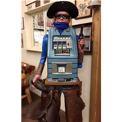 Antique Mills Slot Machine Display - Bandit