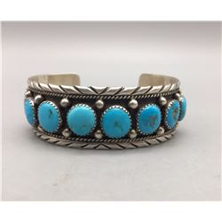 Eight Stone Turquoise Cuff Bracelet
