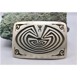 Hopi Overlay Belt Buckle