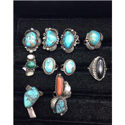 Group of Ten Vintage Rings