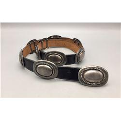 Vintage Sterling Silver Concho Belt