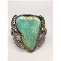 Vintage, Large Stone Turquoise Bracelet