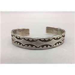 Heavy, Hand-Stamped Bracelet by Marc Antia - Apache