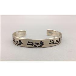 Sterling Silver Overlay Bracelet - Kokopelli Design