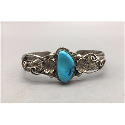 Vintage Sterling Silver and Turquoise Bracelet