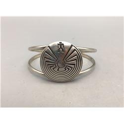 Man-In-The-Maze Design - Sterling Silver Bracelet