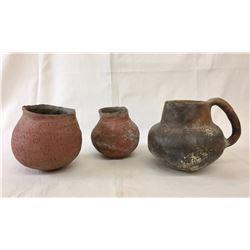 Group of Three Prehistoric Pots
