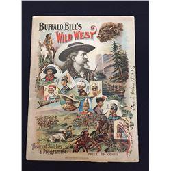 Original 1895 Buffalo Bill Wild West Program