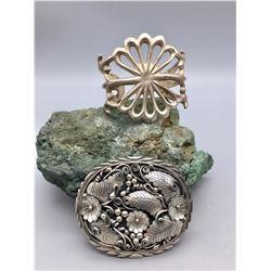 Vintage Sterling Silver Buckle and Bracelet