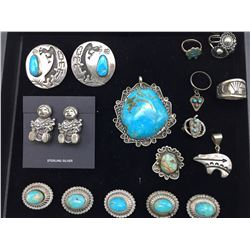 Group of Misc. Turquoise and Sterling Silver Jewelry