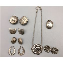 Group of Misc. Sterling Silver Jewelry