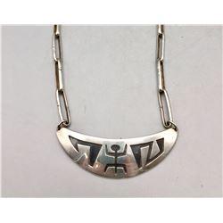 Sterling Silver Pueblo Necklace - Sam Lovato