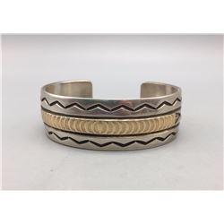 Sterling Silver and 14K Bracelet