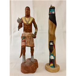 Pair of Hopi Kachinas