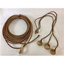 Antique Handmade Maguay Rope and Bolo