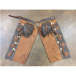 Pair of Fancy Vintage Kids Chaps