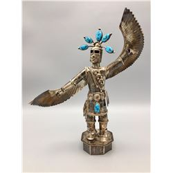 LARGE Sterling Silver Eagle Dancer Kachina