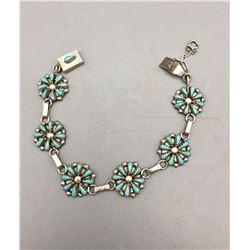 Vintage Petitpoint Link Bracelet