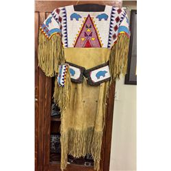 Sioux Beaded Dress and Accessories