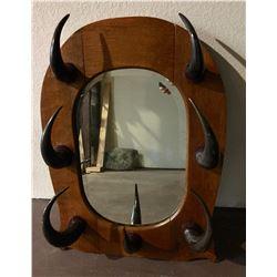 Buffalo Horn Mirror