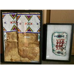 Pair of Beaded Leggins and Beaded Purse