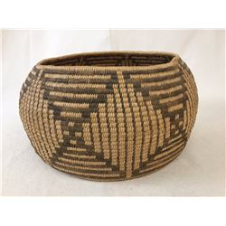 Unique Pima Basketry Bowl - Butterfly