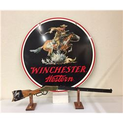 Original Winchester Sign With a Rifle Hanger