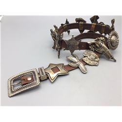 Sterling Silver, Cowboy Theme, Concho Belt
