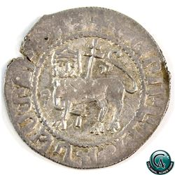 Armenia 1178-1219 Levon I Silver Double Tram, well struck with strong centers. A nice VF+