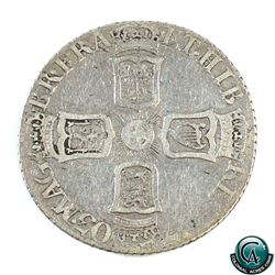 "Great Britain 1703 Queen Anne Silver Six Pence ""Virgo"" Below Bust. VF."