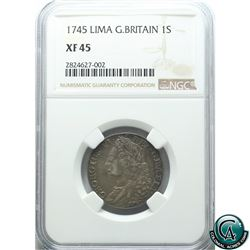Great Britain 1745 Shilling Lima NGC Certified XF-45