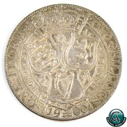 Great Britain 1900 Queen Victoria Silver Florin Veiled Head. A nicely toned UNC Coin with lots of ra