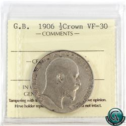 Great Britain 1906 1/2 Crown ICCS Certified VF-30.