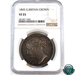 Great Britain 1845 Crown NGC Certified VF-25