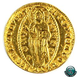 Italy Venice 1342-1354 Andrea Dandolo Gold Ducat EF. *SCARCE*