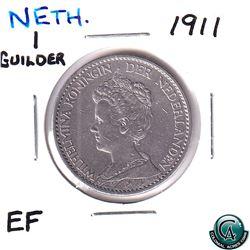 Netherlands 1911 1 Guilder Extra Fine