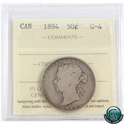 50-cent 1894 ICCS Certified G-4.