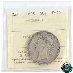 50-cent 1898 ICCS Certified F-15.