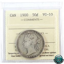 50-cent 1900 ICCS Certified VG-10.