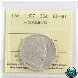 50-cent 1907 ICCS Certified EF-40.